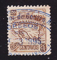 Nicaragua, Scott #89E, Used, Map, Issued 1896 - Nicaragua