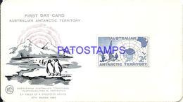 86477 AUSTRALIA YEAR 1957 FIRST DAY ANTARCTICA ANTARTIDA TERRITORY PINGUIN NO POSTAL POSTCARD - Australien
