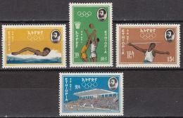 Ethiopia, 1964, Olympic Summer Games Tokyo, Sports, MNH, Michel 479-482 - Ethiopie