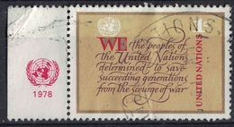 Nations Unies 1978 Oblitéré Used Charter Of UNO Charte De L'ONU Bord De Feuille SU - Oblitérés