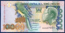 SAO SAN TOME AND PRINCIPE 10000 DOBRAS P-66a  FAUNA BIRD OSSOBO PAPAGAIO BRIDGE 1996 UNC - Sao Tomé Et Principe