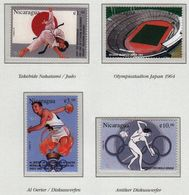 Nicaragua / Olympic Games Atlanta 1996 / Judo, Stadium, Athletics, Olympic Torch - Ete 1996: Atlanta