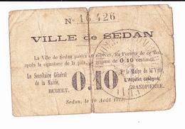 BON DE 10C  VILLE De SEDAN /N°16426 /14-18 - Buoni & Necessità
