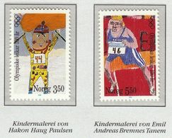 Norway 1996 / Olympic Games 100 Years / Alpine Skiing, Athletics / Children Drawing - Andere