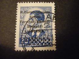 LUBIANA - 1941, COMMISSARIATO  Soprast., Sass. N. 32,  D. 20, Usato  TTB, OCCASIONE - 9. Besetzung 2. WK (Italien)