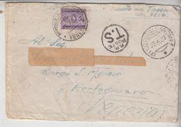 Storia Postale Regno Portogruaro Venezia  Annullo Ufficio Postale Speciale  Segnatasse C. 50 1937 - 1900-44 Victor Emmanuel III