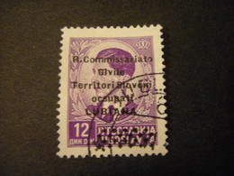 LUBIANA - 1941, COMMISSARIATO  Soprast., Sass. N. 30,  D. 12, Usato  TTB, OCCASIONE - 9. Besetzung 2. WK (Italien)