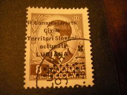 LUBIANA - 1941, COMMISSARIATO  Soprast., Sass. N. 28,  D. 8, Usato  TTB, OCCASIONE - 9. Besetzung 2. WK (Italien)
