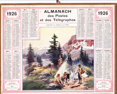 Calendrier Almanach Année 1926 Scout Scoutisme Boy-Scout Chasse Au Gibier Renard Département 31 Illustrateur - Calendriers