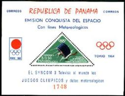 Panama, 1964, Olympic Summer Games Tokyo, Space, Satellites, MNH, Michel Block 29 - Panama