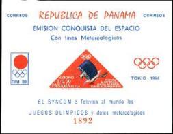 Panama, 1964, Olympic Summer Games Tokyo, Space, Satellites, MNH Imperforated, Michel Block 30 - Panama