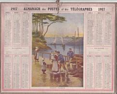 Calendrier Almanach Année 1917 BRETAGNE AUDIERNE Pêcheur Métier Département 31 Illustrateur - Calendriers