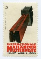 CINDERELLA : GERMANY - INTERNATIONALE MAILANDER MUSTERMESSE, 1933 - Cinderellas