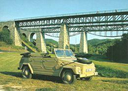 MILITARY ARMY SOLDIER VOLKSWAGEN TYP 181 VW CAR GERMANY RAIL RAILWAY RAILROAD BIATORBAGY BRIDGE Top Card 0714 * Hungary - Militaria