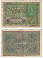 Alemania - Germany 50 Mark 1919, Rehie 2 Pick 66.2 Ref 47-4 - [ 3] 1918-1933 : República De Weimar
