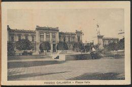 °°° 10530 - REGGIO CALABRIA - PIAZZA ITALIA - 1931 °°° - Lamezia Terme