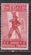ITALIAN EAST AFRICA Scott # 11 MH - Fascist Legionary - Italian Eastern Africa