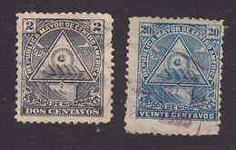 Nicaragua, Scott #100, 105, Used, Coat Of Arms, Issued 1898 - Nicaragua