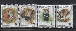 Bulgaria 1994 Sc3831-34  Mi4124-27 Mnh Set WWF-Hamsters - Unused Stamps