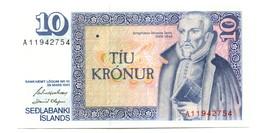 1961 Iceland 10 Kronur Banknote - Iceland