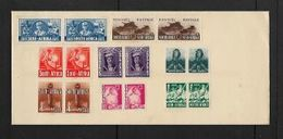 S.Africa, 1941 War Effort 1/2d - 1/= Pairs Stuck To Envelope, Not Cancelled; Unused, No Postmark - South Africa (...-1961)