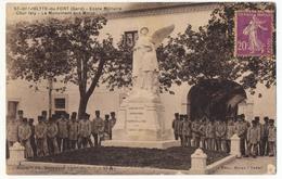 CPA - ST-HIPPOLYTE-DU-FORT (Gard) - Ecole Militaire - Cour Isly - Le Monument Aux Morts - France