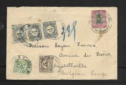 Cover S.Africa, 1d ADDO ...34 C.d.s. > ELIZSBETHVILLE 1.8.34 C.d.s., Postage Due 3 X1Fr, 30c, 5c ELISABETHVILLE 11 9 34 - Postage Due: Covers