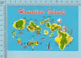 Maps, Cartes Géographiques - Hawaiian Island, 1983 - Cartes Géographiques