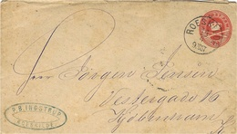 Cover  E P  8 Ore  Cancelled ROESKILDE - 1864-04 (Christian IX)