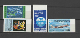Cameroon - Cameroun 1984 Space, Aviation Set Of 4 Imperf. MNH -scarce- - Space