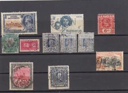 11547-LOTTICINO DI N°. 11 FRANCOBOLLI PERFIN-USATI-VENEZUELA-CILE-SUD AFRICA-MADAGASCAR-CEYLON - Alla Rinfusa (max 999 Francobolli)