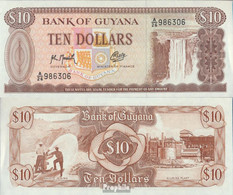 Guyana Pick-Nr: 23f Bankfrisch 1966 10 Dollars - Guyane Française