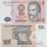 Peru Pick-Nr: 133 Bankfrisch 1987 100 Intis - Peru