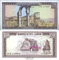 Libanon Pick-Nr: 63f Bankfrisch 1986 10 Livres - Libanon
