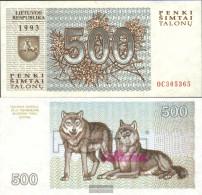 Lithuania 46 Uncirculated 1993 500 Talon - Lithuania