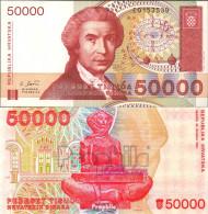 Kroatien Pick-Nr: 26a Bankfrisch 1993 50.000 Dinar - Kroatien