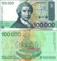 Croatia Pick-number: 27a Uncirculated 1993 100.000 Dinar - Croatie
