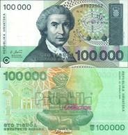 Kroatien Pick-Nr: 27a Bankfrisch 1993 100.000 Dinar - Kroatien