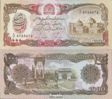 Afghanistan Pick-Nr: 61c Bankfrisch 1991 1.000 Afghanis - Afghanistan