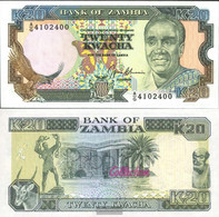 Sambia Pick-number: 32b Uncirculated 1989 20 Kwacha Adler - Zambia