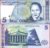 Kirgisistan Pick-number: 13a Uncirculated 1997 5 Som - Kyrgyzstan
