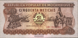 Mosambik Pick-number: 129b Uncirculated 1986 50 Meticais - Mozambique