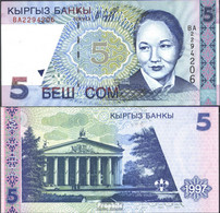 Kirgisistan Pick-Nr: 13a Bankfrisch 1997 5 Som - Kirgisistan