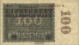 German Empire Rosenbg: 106l, WZ. Hakensterne Brown KN, Black Firmenzeichen Used (III) 1923 100 Million Mark - [ 3] 1918-1933 : Weimar Republic