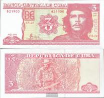 Cuba Pick-number: 127a Uncirculated 2004 3 Pesos - Cuba