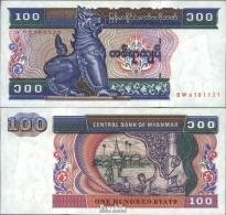 Myanmar Pick-Nr: 74b Bankfrisch 1994 100 Kyats - Myanmar
