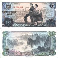 Nord-Korea Pick-Nr: 19a Bankfrisch 1978 5 Won - Corée Du Nord