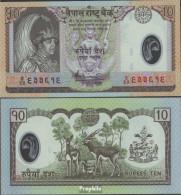 Nepal Pick-Nr: 54 Bankfrisch 2005 10 Rupees (plastic) - Nepal
