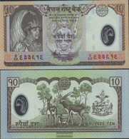 Nepal Pick-number: 54 Uncirculated 2005 10 Rupees (plastic) - Nepal