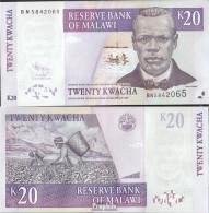 Malawi Pick-Nr: 52d Bankfrisch 2009 20 Kwacha - Malawi
